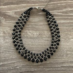 Black and Gold Statement Necklace.